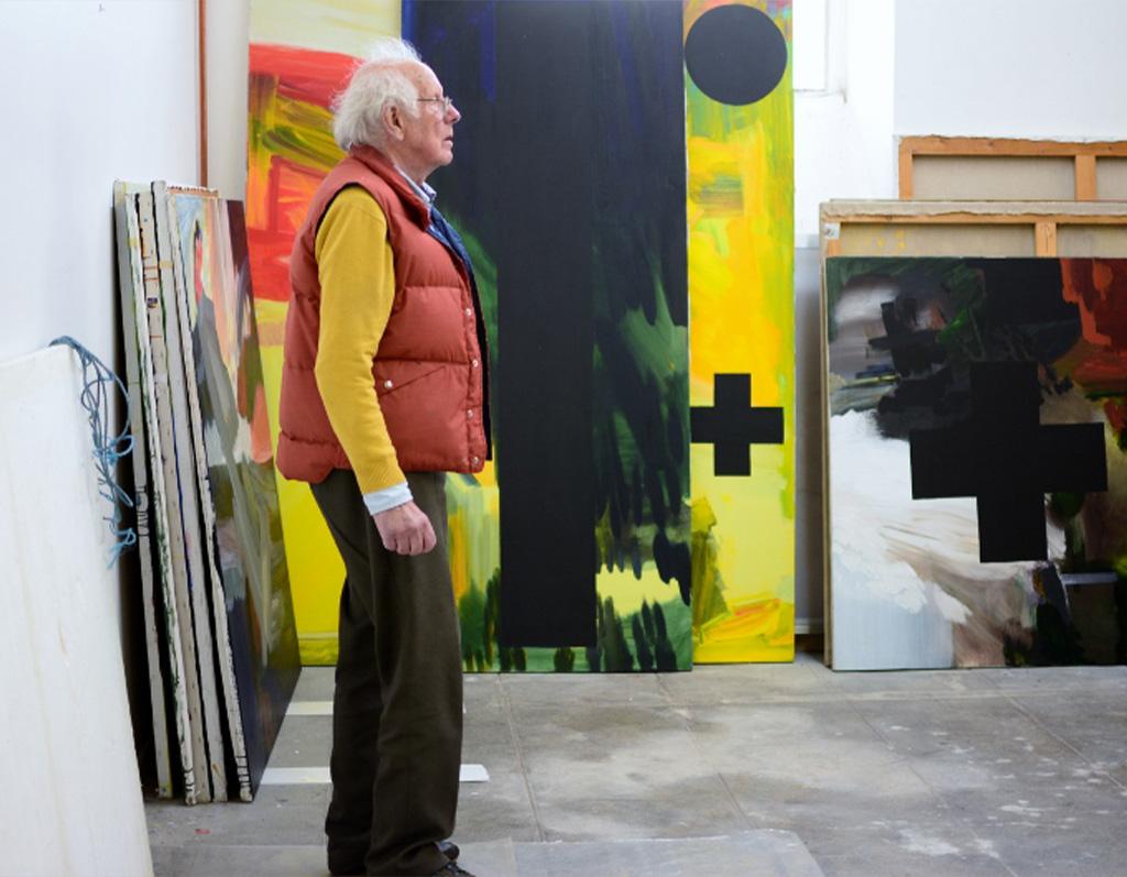 Eugène dans son atelier